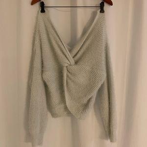White Fuzzy Zaful Sweater
